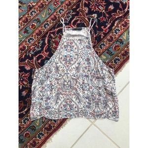 Brandy Melville Cropped Floral Tank Top